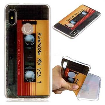 huge discount 55cb5 bbdc1 Retro Cassette Tape Super Clear Soft TPU Back Cover for Xiaomi Redmi Note 5  Pro