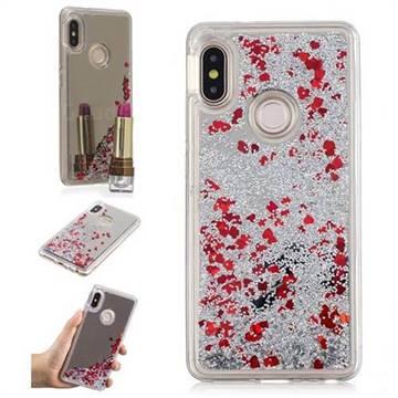 size 40 b0ff8 fc1ae Glitter Sand Mirror Quicksand Dynamic Liquid Star TPU Case for Xiaomi Redmi  Note 5 Pro - Red