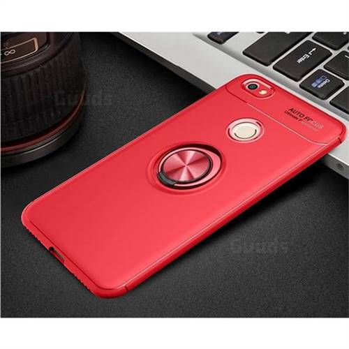 quality design 4071f c3d46 Auto Focus Invisible Ring Holder Soft Phone Case for Xiaomi Redmi Note 5  Pro - Red