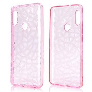 Diamond Pattern Shining Soft TPU Phone Back Cover for Xiaomi Redmi Note 5 Pro - Pink