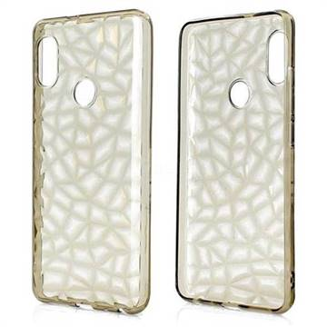 Diamond Pattern Shining Soft TPU Phone Back Cover for Xiaomi Redmi Note 5 Pro - Gray