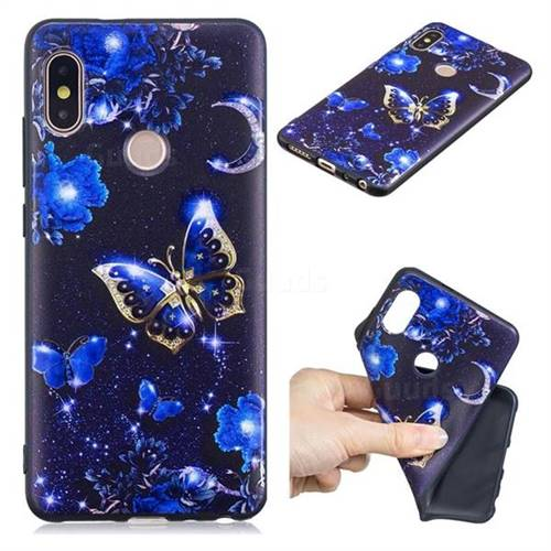 Phnom Penh Butterfly 3D Embossed Relief Black TPU Cell Phone Back Cover for Xiaomi Redmi Note 5 Pro
