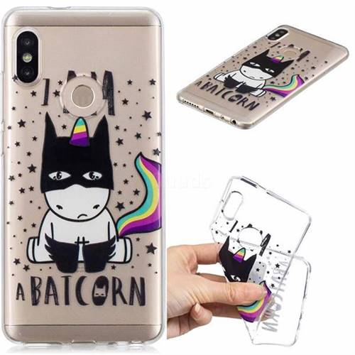 Batman Clear Varnish Soft Phone Back Cover for Xiaomi Redmi Note 5 Pro