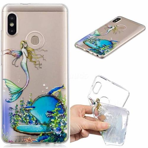 Mermaid Clear Varnish Soft Phone Back Cover for Xiaomi Redmi Note 5 Pro