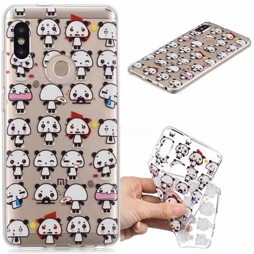 Mini Panda Clear Varnish Soft Phone Back Cover for Xiaomi Redmi Note 5 Pro