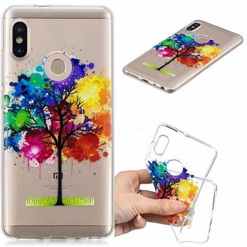 Oil Painting Tree Clear Varnish Soft Phone Back Cover for Xiaomi Redmi Note 5 Pro