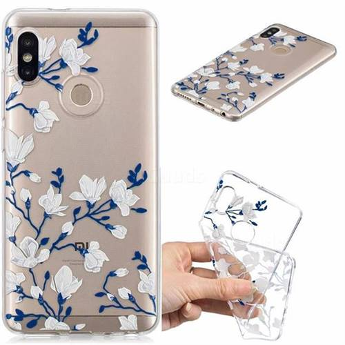 Magnolia Flower Clear Varnish Soft Phone Back Cover for Xiaomi Redmi Note 5 Pro
