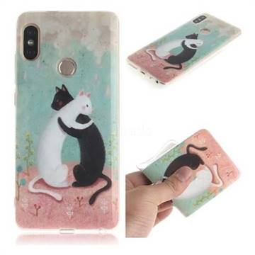 Black and White Cat IMD Soft TPU Cell Phone Back Cover for Xiaomi Redmi Note 5 Pro