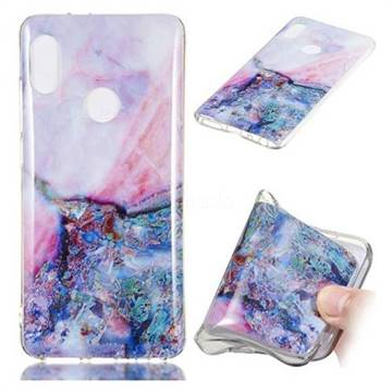Purple Amber Soft TPU Marble Pattern Phone Case for Xiaomi Redmi Note 5 Pro