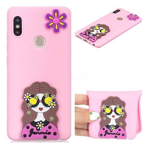 Violet Girl Soft 3D Silicone Case for Xiaomi Redmi Note 5 Pro