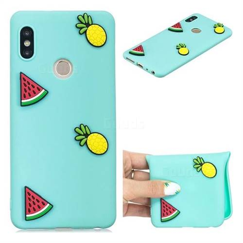 Watermelon Pineapple Soft 3D Silicone Case for Xiaomi Redmi Note 5 Pro