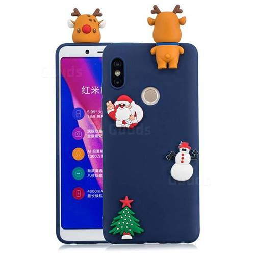 Navy Elk Christmas Xmax Soft 3D Silicone Case for Xiaomi Redmi Note 5 Pro