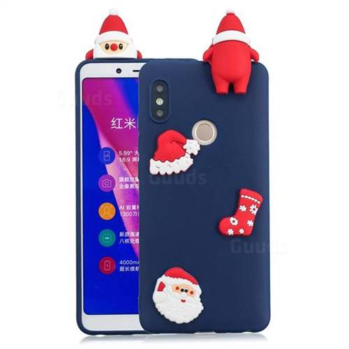 Navy Santa Claus Christmas Xmax Soft 3D Silicone Case for Xiaomi Redmi Note 5 Pro