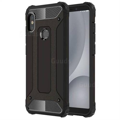 watch ffe41 67c75 King Kong Armor Premium Shockproof Dual Layer Rugged Hard Cover for Xiaomi  Redmi Note 5 Pro - Black Gold