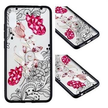 Tulip Lace Diamond Flower Soft TPU Back Cover for Mi Xiaomi Redmi Note 6