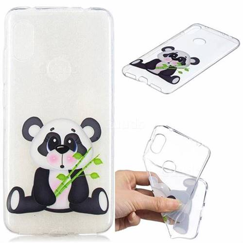 Bamboo Panda Clear Varnish Soft Phone Back Cover for Mi Xiaomi Redmi Note 6