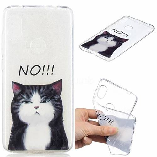 No Cat Clear Varnish Soft Phone Back Cover for Mi Xiaomi Redmi Note 6