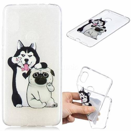 Selfie Dog Clear Varnish Soft Phone Back Cover for Mi Xiaomi Redmi Note 6
