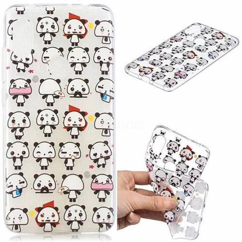 Mini Panda Clear Varnish Soft Phone Back Cover for Mi Xiaomi Redmi Note 6