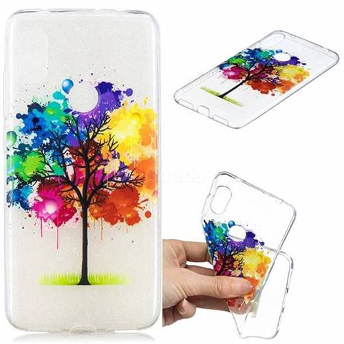 Oil Painting Tree Clear Varnish Soft Phone Back Cover for Mi Xiaomi Redmi Note 6