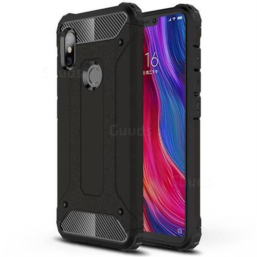 King Kong Armor Premium Shockproof Dual Layer Rugged Hard Cover for Mi Xiaomi Redmi Note 6 - Black Gold