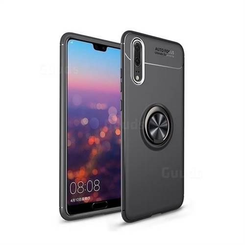Auto Focus Invisible Ring Holder Soft Phone Case for Mi Xiaomi Redmi Note 6 Pro - Black
