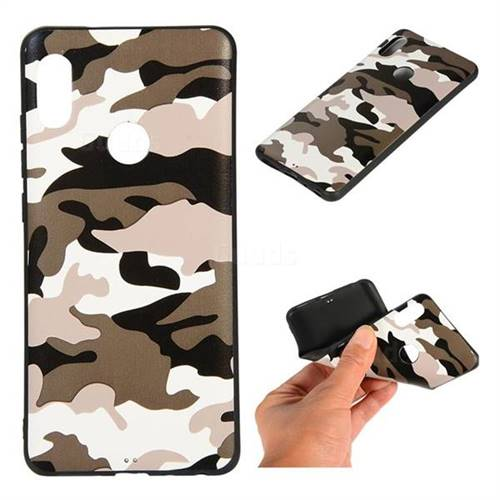 6273e7586 Camouflage Soft TPU Back Cover for Mi Xiaomi Redmi Note 6 Pro - Black White