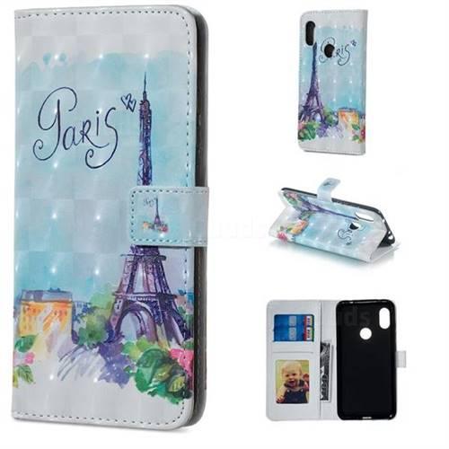 Paris Tower 3D Painted Leather Phone Wallet Case for Mi Xiaomi Redmi Note 6 Pro