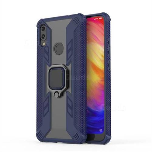 Predator Armor Metal Ring Grip Shockproof Dual Layer Rugged Hard Cover for Xiaomi Mi Redmi Note 7 / Note 7 Pro - Blue