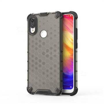 Honeycomb TPU + PC Hybrid Armor Shockproof Case Cover for Xiaomi Mi Redmi Note 7 / Note 7 Pro - Gray