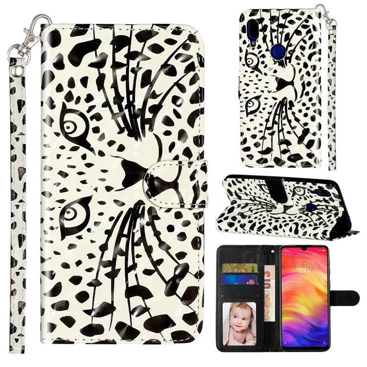 Leopard Panther 3D Leather Phone Holster Wallet Case for Xiaomi Mi Redmi Note 7 / Note 7 Pro