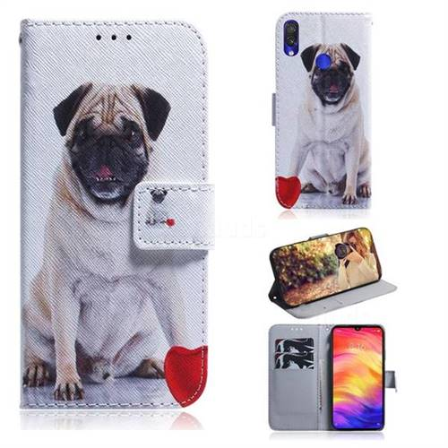 Pug Dog PU Leather Wallet Case for Xiaomi Mi Redmi Note 7S