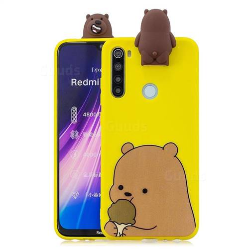 Brown Bear Soft 3D Climbing Doll Stand Soft Case for Mi Xiaomi Redmi Note 8
