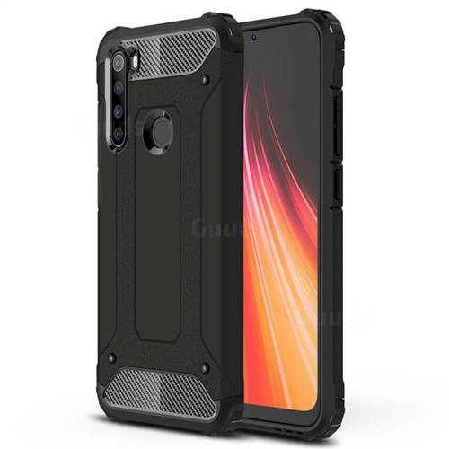 King Kong Armor Premium Shockproof Dual Layer Rugged Hard Cover for Mi Xiaomi Redmi Note 8 - Black Gold