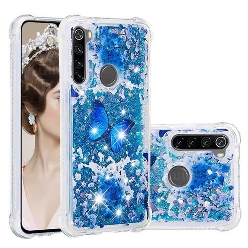 Flower Butterfly Dynamic Liquid Glitter Sand Quicksand Star TPU Case for Mi Xiaomi Redmi Note 8