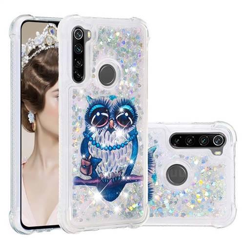 Sweet Gray Owl Dynamic Liquid Glitter Sand Quicksand Star TPU Case for Mi Xiaomi Redmi Note 8