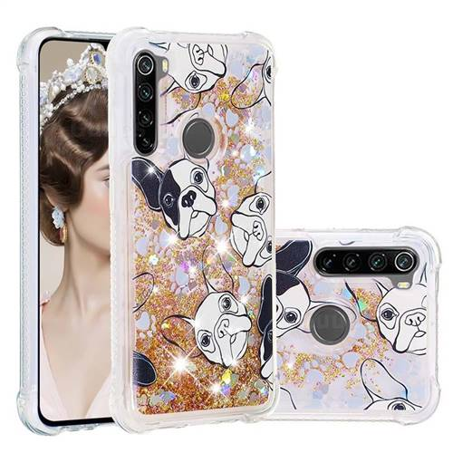 Bulldog Dynamic Liquid Glitter Sand Quicksand Star TPU Case for Mi Xiaomi Redmi Note 8