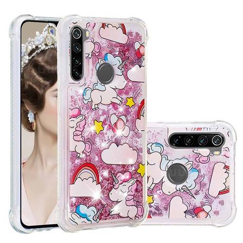 Angel Pony Dynamic Liquid Glitter Sand Quicksand Star TPU Case for Mi Xiaomi Redmi Note 8