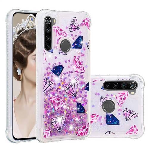 Diamond Dynamic Liquid Glitter Sand Quicksand Star TPU Case for Mi Xiaomi Redmi Note 8
