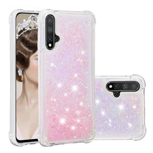Dynamic Liquid Glitter Sand Quicksand TPU Case for Mi Xiaomi Redmi Note 8 - Silver Powder Star