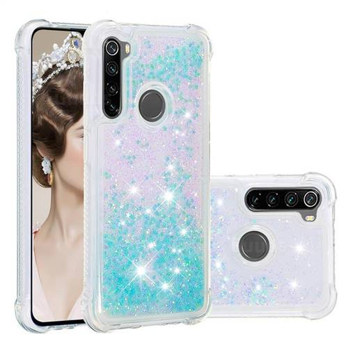 Dynamic Liquid Glitter Sand Quicksand TPU Case for Mi Xiaomi Redmi Note 8 - Silver Blue Star