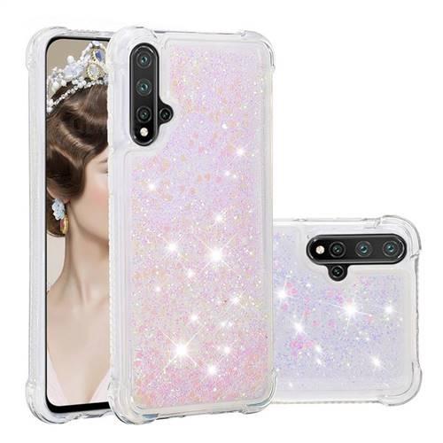 Dynamic Liquid Glitter Sand Quicksand Star TPU Case for Mi Xiaomi Redmi Note 8 - Pink
