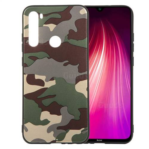 Camouflage Soft TPU Back Cover for Mi Xiaomi Redmi Note 8 - Gold Green