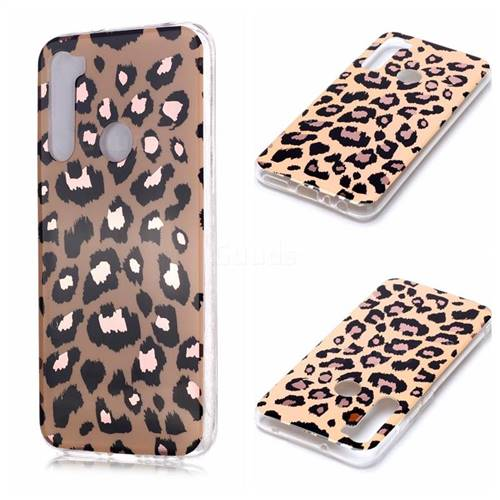 Leopard Galvanized Rose Gold Marble Phone Back Cover for Mi Xiaomi Redmi Note 8