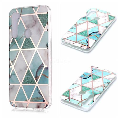 Green White Galvanized Rose Gold Marble Phone Back Cover for Mi Xiaomi Redmi Note 8
