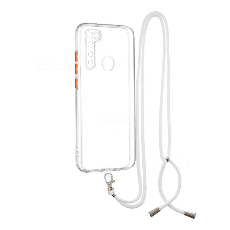Necklace Cross-body Lanyard Strap Cord Phone Case Cover for Mi Xiaomi Redmi Note 8 - Transparent