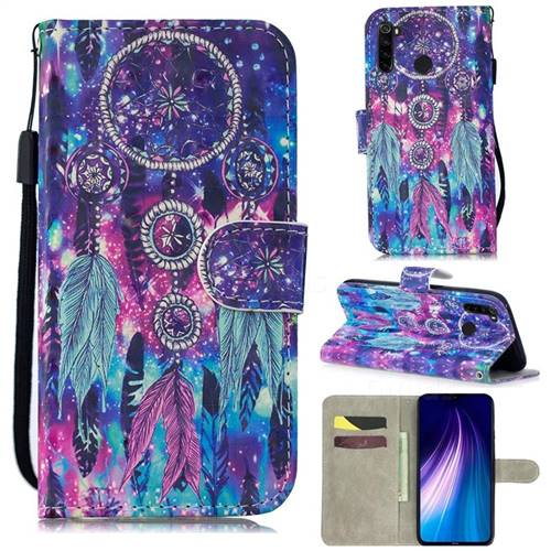 Star Wind Chimes 3D Painted Leather Wallet Phone Case for Mi Xiaomi Redmi Note 8
