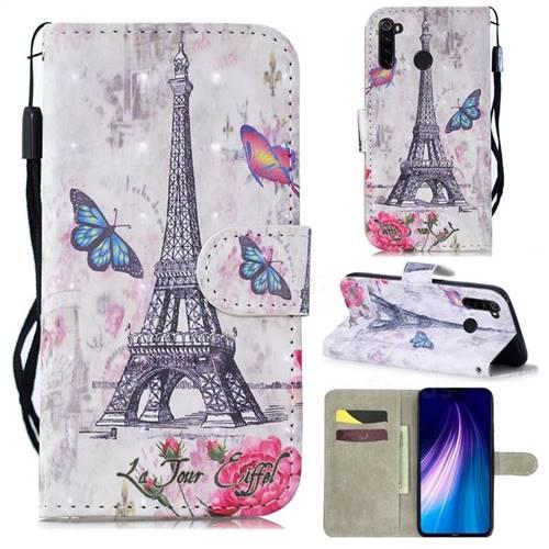 Paris Tower 3D Painted Leather Wallet Phone Case for Mi Xiaomi Redmi Note 8