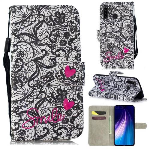 Lace Flower 3D Painted Leather Wallet Phone Case for Mi Xiaomi Redmi Note 8
