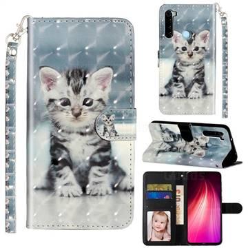 Kitten Cat 3D Leather Phone Holster Wallet Case for Mi Xiaomi Redmi Note 8